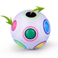智力彩虹球 魔力球 足球型 扭計骰 魔方 Cube