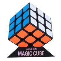 永駿 冠龍 3X3 黑底 扭計骰 Rubik's Cube