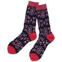 全新Vivienne Westwood黑紅色圖案短襪