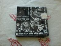 全新Vivienne Westwood灰色扎染飛鷹Logo手巾