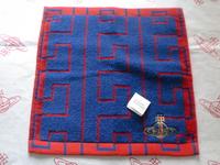 全新Vivienne Westwood藍紅色迷宮Logo毛巾