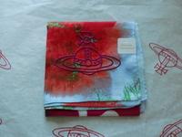 全新Vivienne Westwood紅色心心大Logo手巾