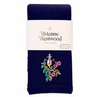全新Vivienne Westwood深藍色雪人Logo絲襪長褲
