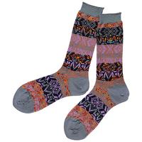 全新Vivienne Westwood灰色彩圖Logo短襪