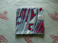 全新Vivienne Westwood紅藍色髮絲Logo手巾