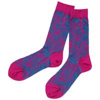 全新Vivienne Westwood紫紅色多Logo短襪