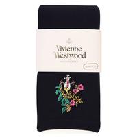全新Vivienne Westwood黑色雪人Logo絲襪長褲