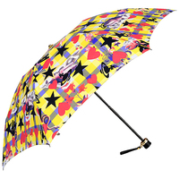全新Vivienne Westwood日本版黃色格仔飛龍Logo縮骨遮