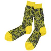 全新Vivienne Westwood黃色多Logo短襪