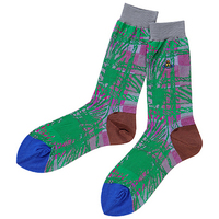 全新Vivienne Westwood灰邊格紋圖案Logo短襪