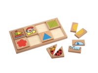台灣制PLAYME 1/2 配對板- 觀察對應 配對 /拼砌收納 /情境圖 拼圖 /解難 積木