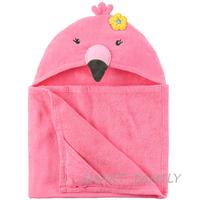 美國直送 Carter's有帽沙灘大毛巾造型浴巾(火烈鳥款) 兒童幼兒用品 夏日游水 沖涼/沐浴巾