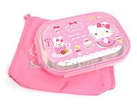 韓國直送 韓國製造Hello Kitty 正品餐盤/食物分類盤/分餸飯盆 / 兒童幼兒用品 / 餐具/自理