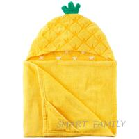 美國直送 Carter's有帽沙灘大毛巾造型浴巾(菠蘿款) 兒童幼兒用品 夏日游水 沖涼/沐浴巾