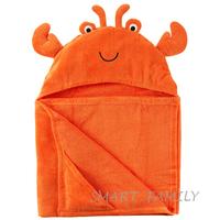 美國直送 Carter's有帽沙灘大毛巾造型浴巾(小蟹款) 兒童幼兒用品 夏日游水 沖涼/沐浴巾