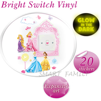 英國直送 迪士尼 Disney Princess Light My Way Light Switch Cover 迪士尼公主夜光燈制牆貼 兒童幼兒家居自理用品