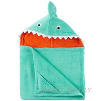 美國直送 Carter's有帽沙灘大毛巾造型浴巾(鯊魚款) 兒童幼兒用品 夏日游水 沖涼/沐浴巾