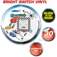 英國直送 迪士尼 Disney Cars Light My Way Light Switch Cover 反斗車王夜光燈制牆貼 兒童幼兒家居自理用品