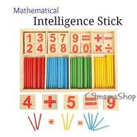 蒙特梭利 出口 bb 玩具 早教 蒙氏 教具 數學 數字 加減 算術 棒 積木 木玩 益智 遊戲 $24