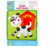 GALT soft book 出口 英國 立體 響紙 咇咇器 多觸感 嬰兒 早教 動物 布書 小牛款 $22