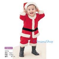 聖誕熱賣 聖誕老人夾衣 哈衣 bb衫 節日童裝 聖誕帽 兩件套 嬰兒服裝 夾衣 爬服 2件套裝 $68 聖誕老人套裝