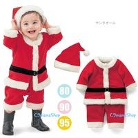 熱賣 聖誕老人夾衣 哈衣 bb衫 童裝 柔軟 法蘭絨 聖誕帽 嬰兒服裝 夾衣 爬服 2件 套裝 $79