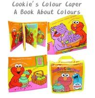 出口 BB玩具 芝麻街 幼稚園面試 認知 立體 響紙 英文 顏色 兒童 遊戲布書 $36一本