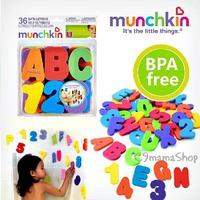 munchkin bb早教 嬰兒玩具 洗澡 戲水 玩具 數字貼 英文字母貼 浴室貼 36片 出口尾單 $24