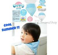 出口日本bb用品 夏天必備 純棉雙面 兒童吸汗巾 清涼消暑三角巾 寶寶 炎夏 吸熱保冷巾 $28