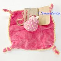 出口 法國 ORCHESTRA 粉紅 小牛 毛公仔 bb玩具 嬰兒玩具 安撫玩偶 搖鈴 安撫巾 睡巾 $24