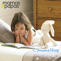 Mamas & Papas bb玩具 英國貴族母嬰品牌 小兔 新生 超柔 嬰兒 安撫 布偶 毛公仔 特價$38