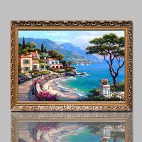 5D鑽石繡 / 魔方鑽石畫 / 鑽石十字繡 / 滿貼鑽石畫 / 地中海風景