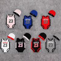 夏裝新生兒無袖三角哈衣 / 嬰兒籃球背心包屁衣 / 嬰兒三角連體爬行服