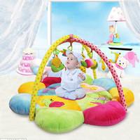 嬰兒毛絨花瓣爬行墊 / 新生兒健身架遊戲毯