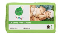 Seventh Generation - Baby chlorine free Diapers 40CT stg1 無氯防敏嬰兒紙尿片 8-14磅 40片