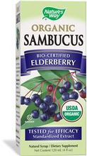 Nature's Way, USDA Organic Sambucus, Bio-Certified Elderberry, 120 ml 有機認證接骨木果漿露