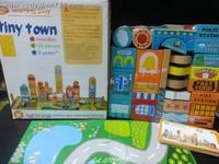 Cutieshop153 益智玩具啟蒙積木(手眼協調,訓練小手肌 ,創意空間3+)~外貿50大粒城市積木-(場地底板) tiny town #141901