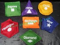 Cutieshop153 益智優質外貿啟蒙積木玩具(手眼協調,分別顏色)~認識形狀顏色英文豆袋 # 160396