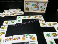(拼圖盒)Cutieshop153 益智啟蒙積木玩具~Domino 28 接龍遊戲盒裝(迷你版) #141838