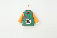 QTeeShop – 日韓童裝秋季飯字棉服長袖外套(袖子可拆) – KLA183