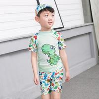 (預訂)(定價) QTeeShop – 男童裝恐龍泳衣+泳褲+泳帽 3件套裝 – PNB038