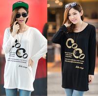 QTeeShop – 成年女裝 日韓女裝寬鬆蝙蝠袖COCO長袖TEE – S28P343