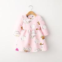 QTeeShop – 日韓童裝秋季新款長袖天鵝連衣裙– GLA102