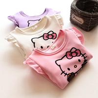 QTeeShop – 日韓童裝新款Kitty純棉加絨長袖T恤– TLA404