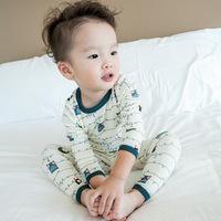 QTeeShop – 日韓童裝多彩卡通印花睡衣 家居服兩件套  –  CLA128
