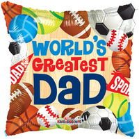 "18"" Father's Day Sports Square [balloon]"