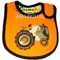 防水口水肩 - 迷彩工程車 橙色, 4條或以上$15/條【嬰兒用品】