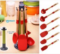 韓國Sillymann 矽膠煮食用具 - 一套七件, 紅色【家居/廚房/用具品】