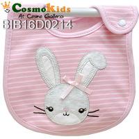 防水口水肩 - 長耳兔仔 粉紅色, 4條或以上$15/條【嬰兒用品】