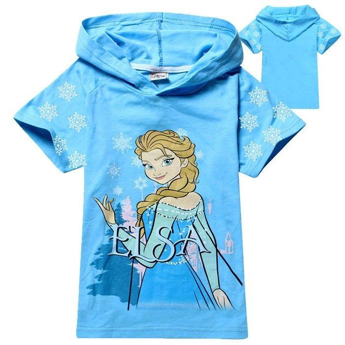 冰雪奇缘 frozen queen 公主 爱莎 elsa 女童 短袖 上衣 t恤 tee #38